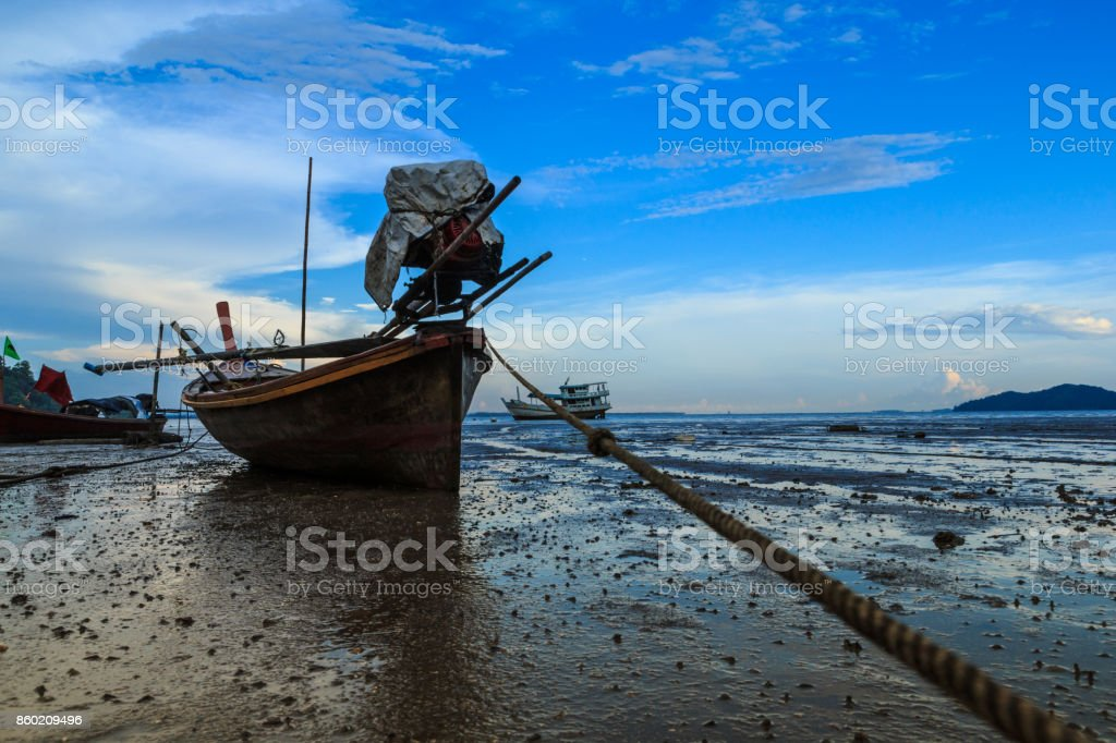 Longtail boat stock photo