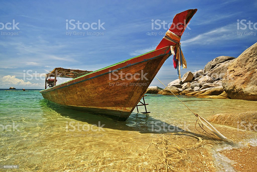 Longtail Boat royalty-free stock photo