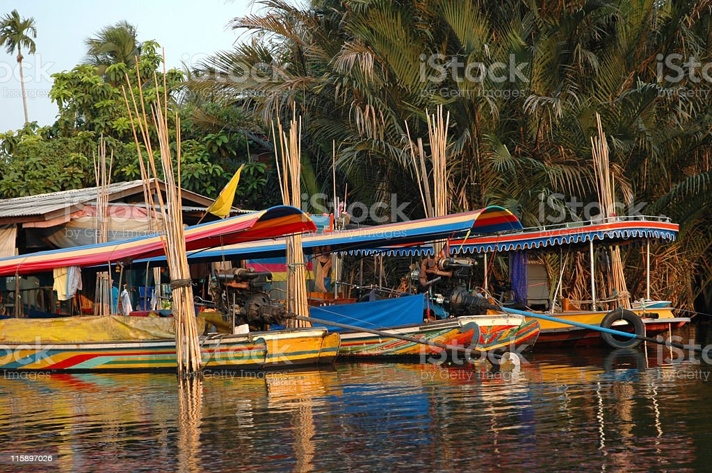Long-tail boats royalty-free stock photo