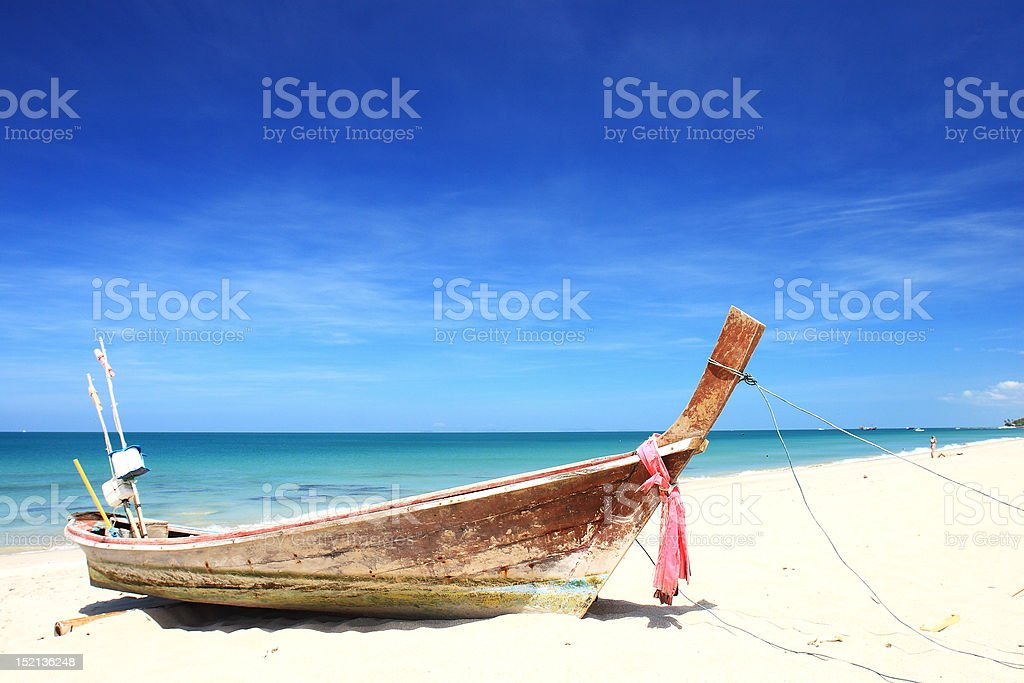 Long-tail boats,Andaman Sea royalty-free stock photo