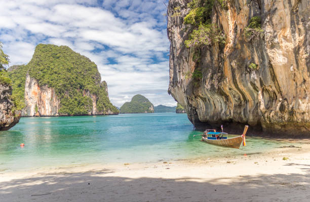 Longtail in Thailand stock photo