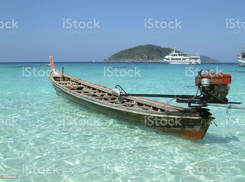 longtail motor boat royalty-free stock photo