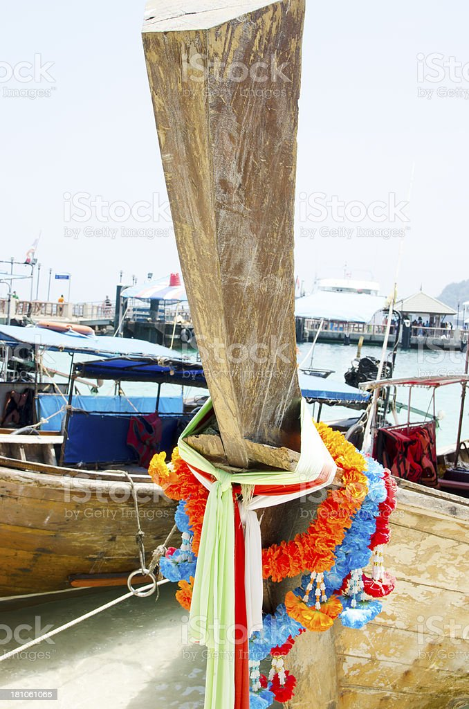 Long-tail with ribbon royalty-free stock photo