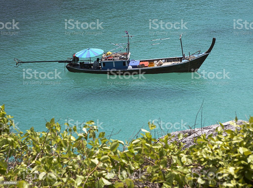 Longtailboat in Thailland royalty free stockfoto