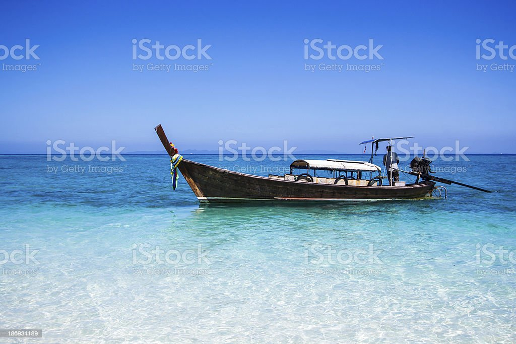 Long-tailed boat  island south Thailand royalty-free stock photo
