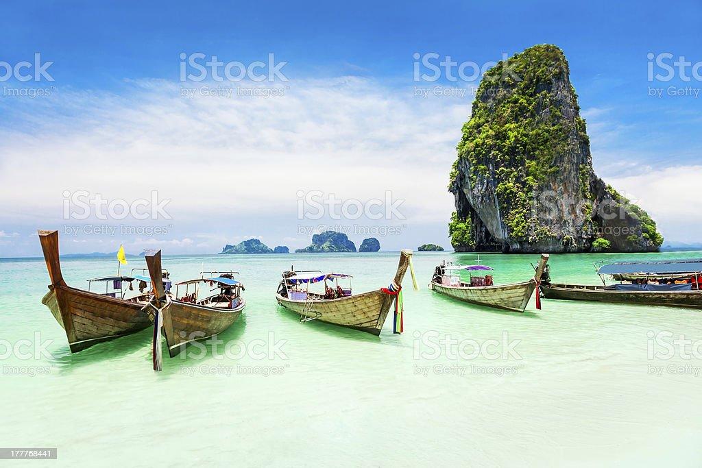 Longtale boat stock photo