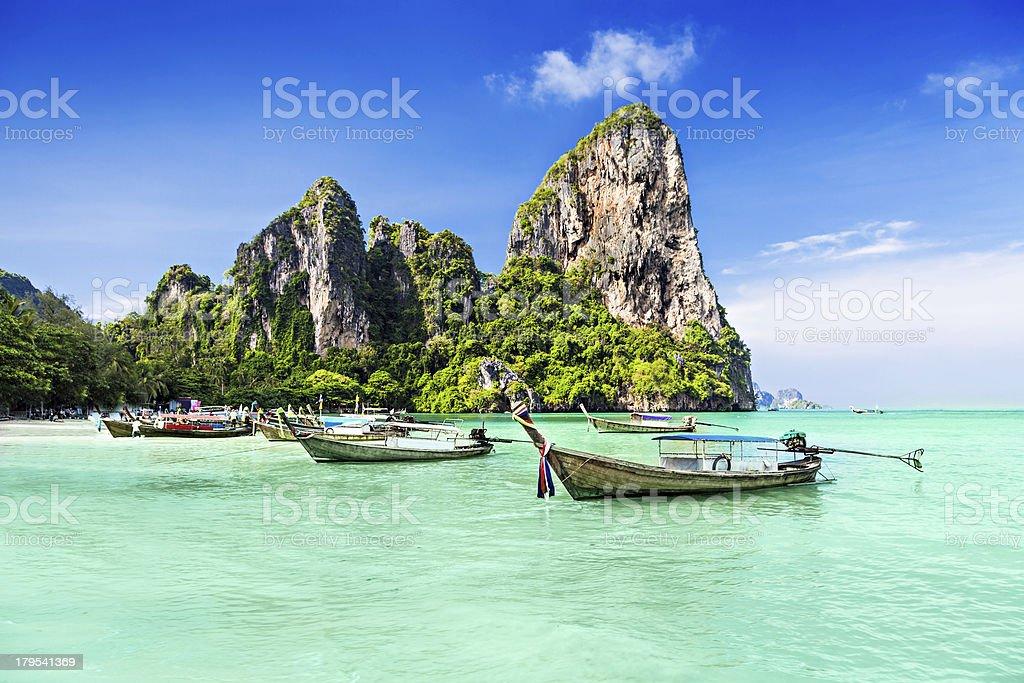Longtale boats stock photo