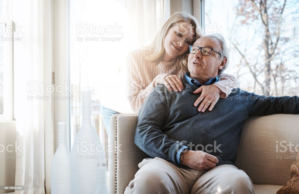 Long-time love and affection stock photo