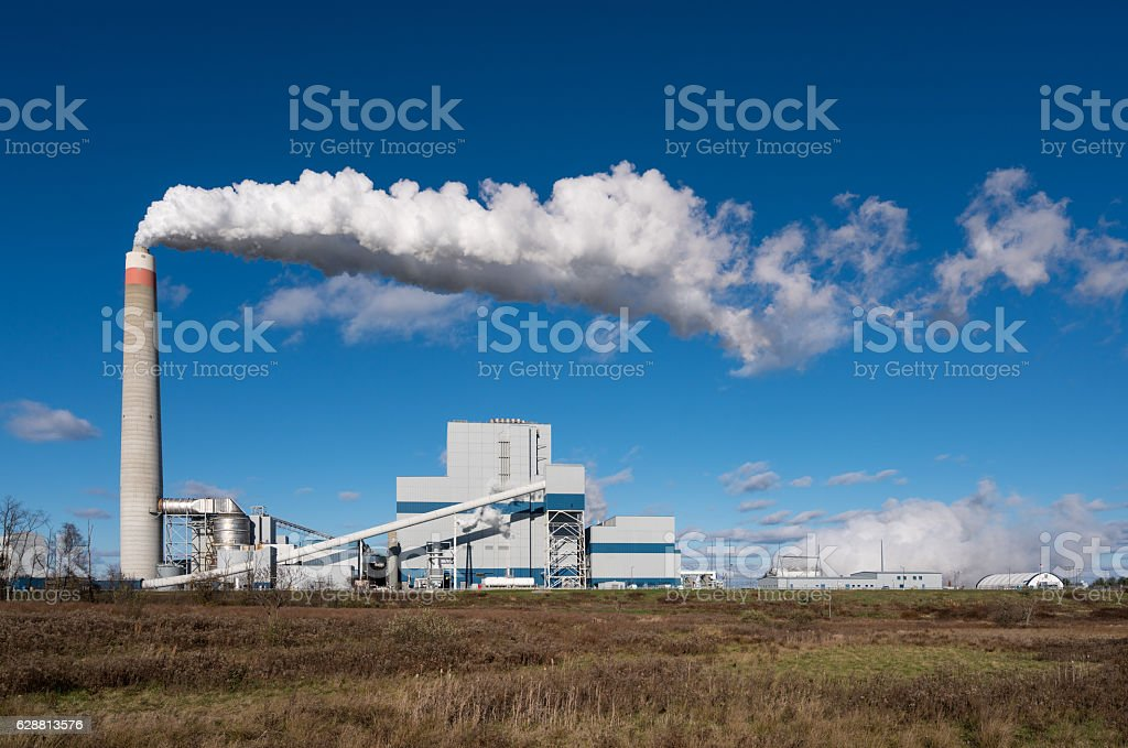 Longview coal powered power station stock photo