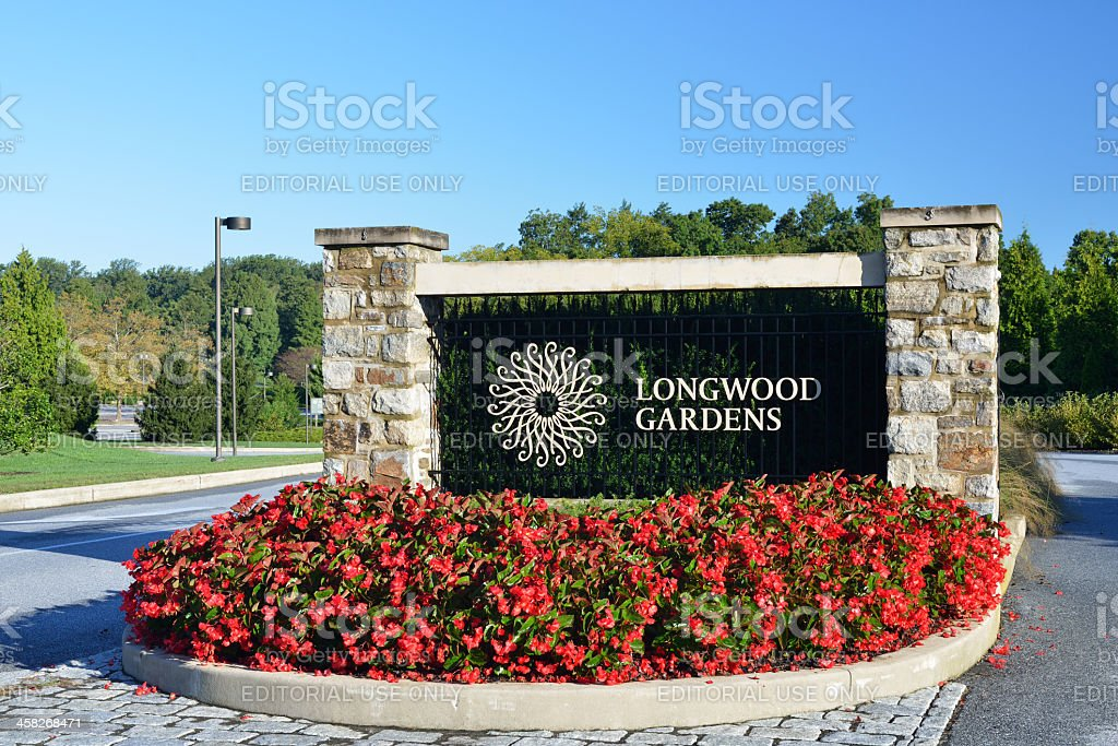 Longwood Gardens Entrance Royalty Free Stock Photo