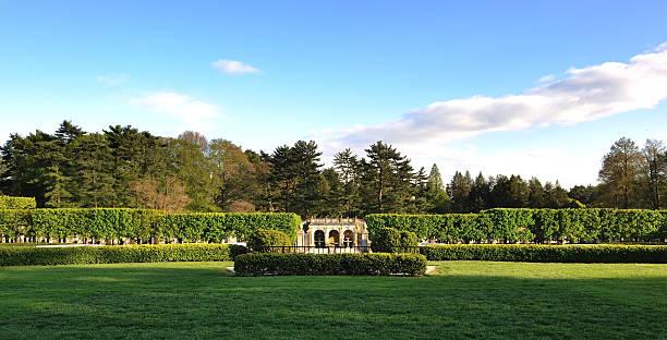 Longwood Gardens water fountain stock photo