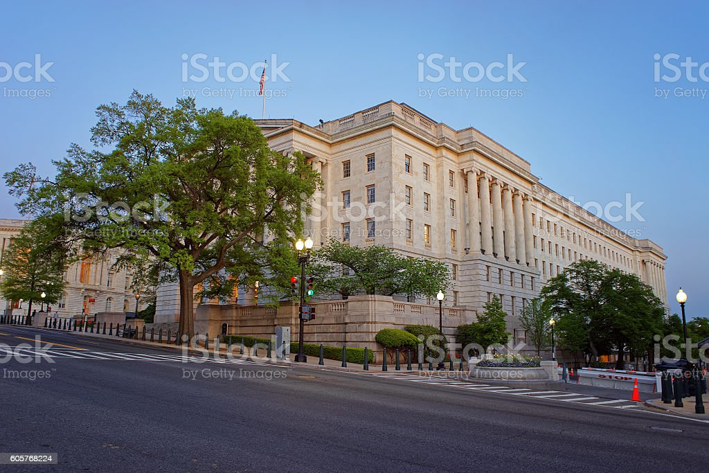 Longworth House Office Building in Washington DC stock photo