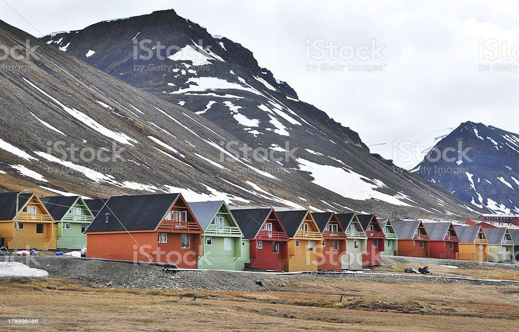 Longyearbyen, Svalbard. royalty-free stock photo