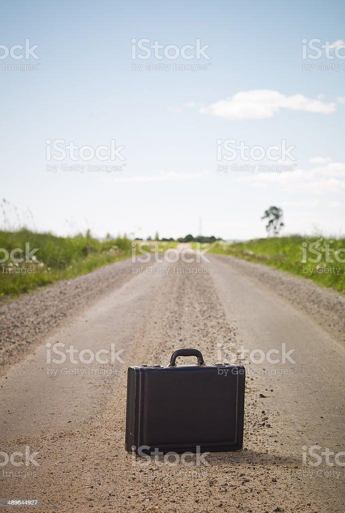 Lonley Briefcase stock photo
