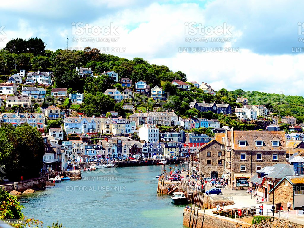 Looe, Cornwall. stock photo