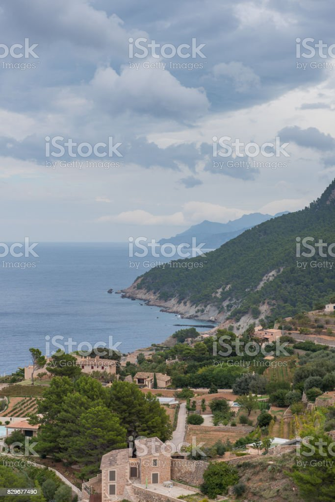 Look about a small place on the coast of Majorca stock photo