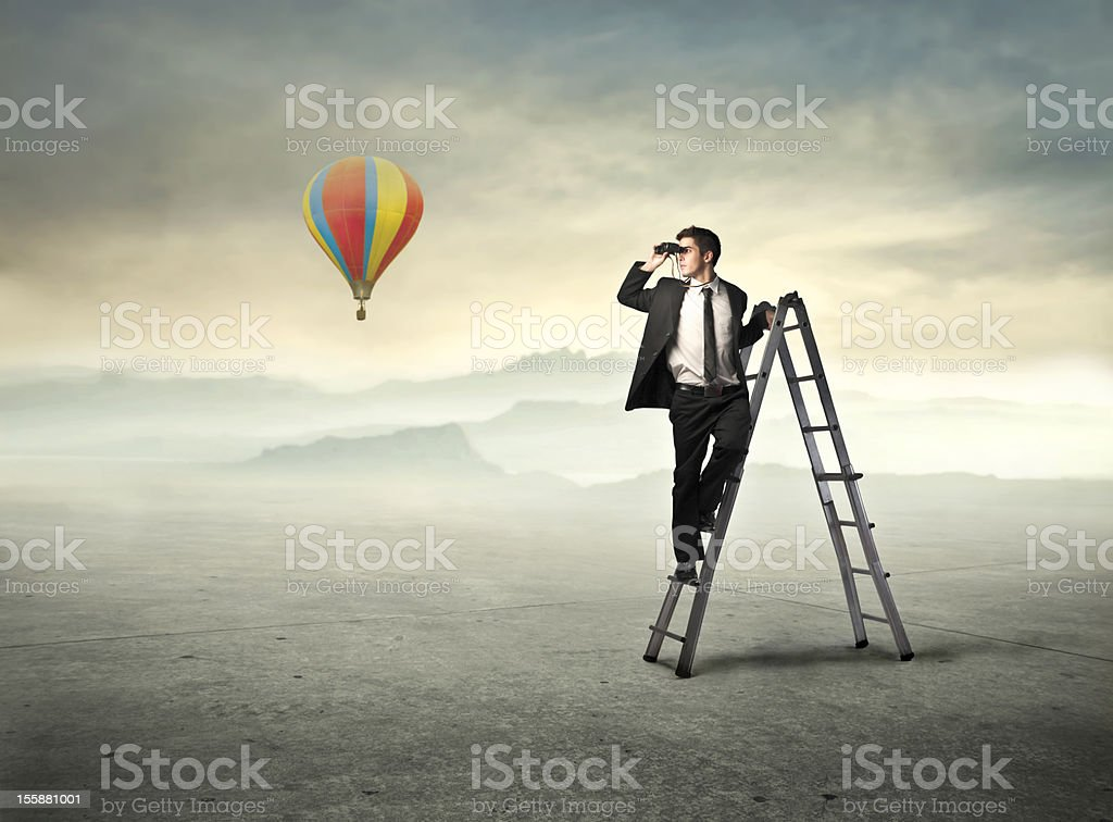 Look ahead royalty-free stock photo