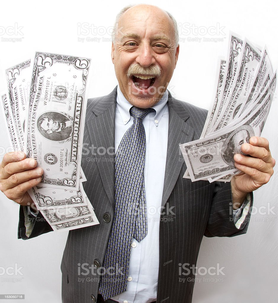 Look At All My Money! stock photo