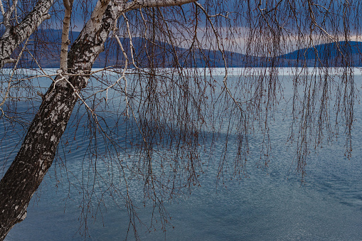 look at big lake in early spring