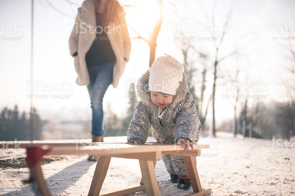 Look at me go! stock photo