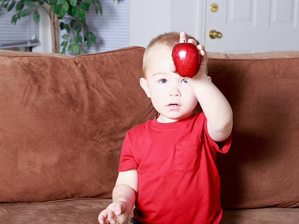 Look at my Apple! stock photo