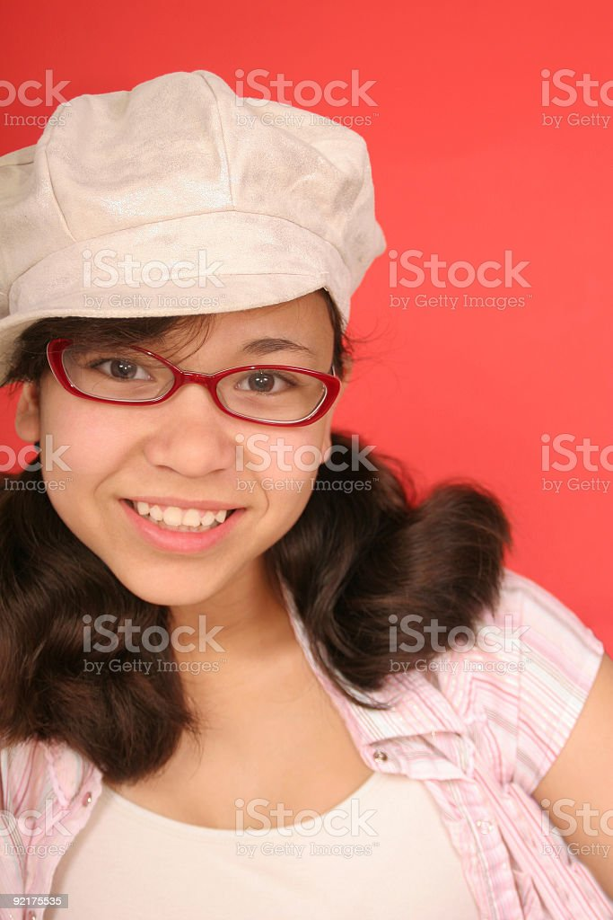 Look at my New Glasses royalty-free stock photo