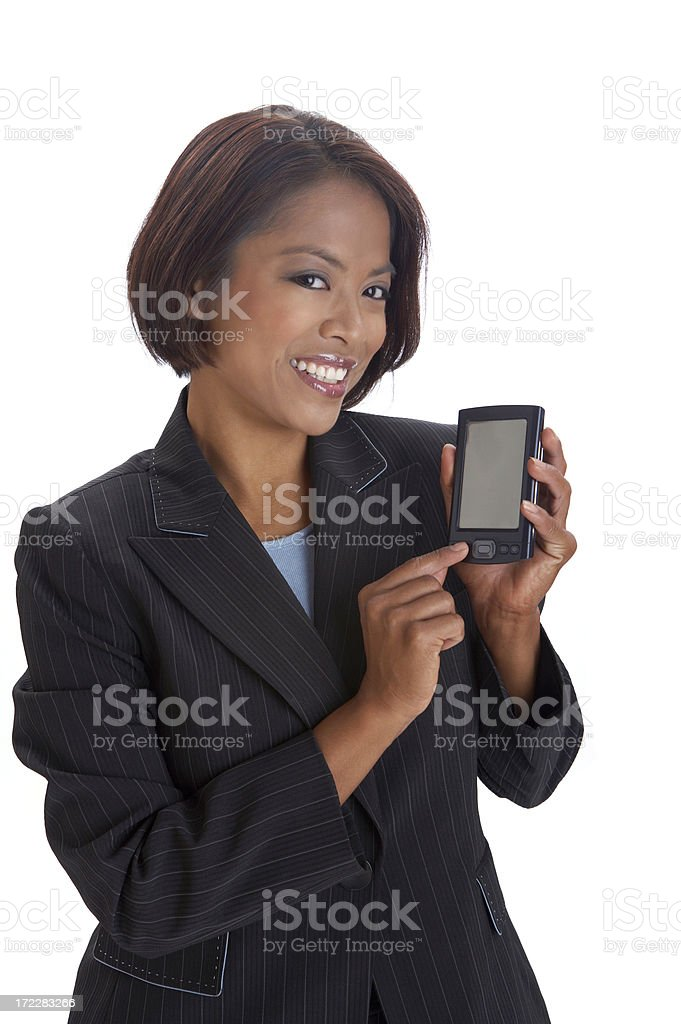 Look at my PDA royalty-free stock photo