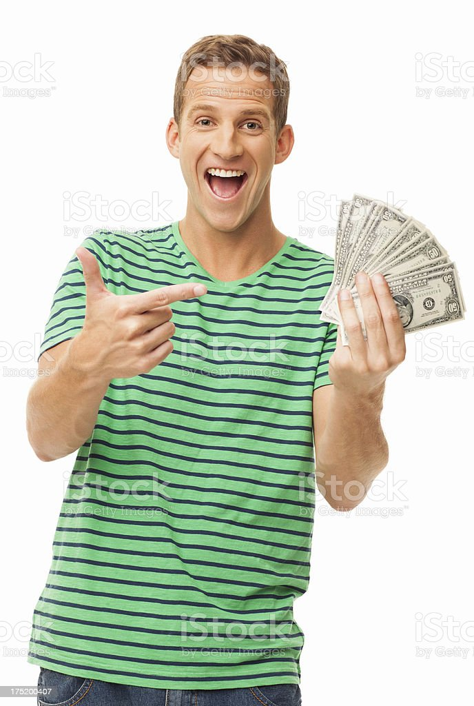 Look At That Money - Isolated stock photo