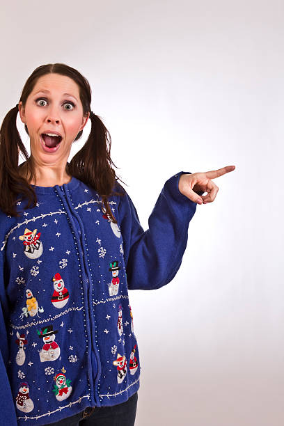 look at that - ugly sweater stock photos and pictures