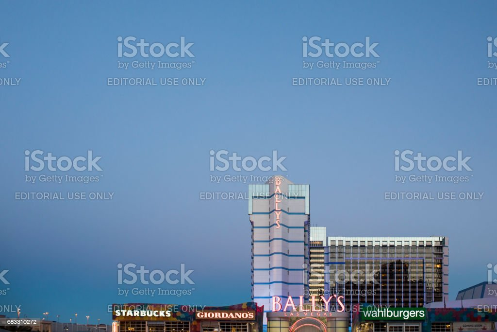A look at the Bally's Hotel and casino on Las Vegas Boulevard, commonly named The Strip. zbiór zdjęć royalty-free
