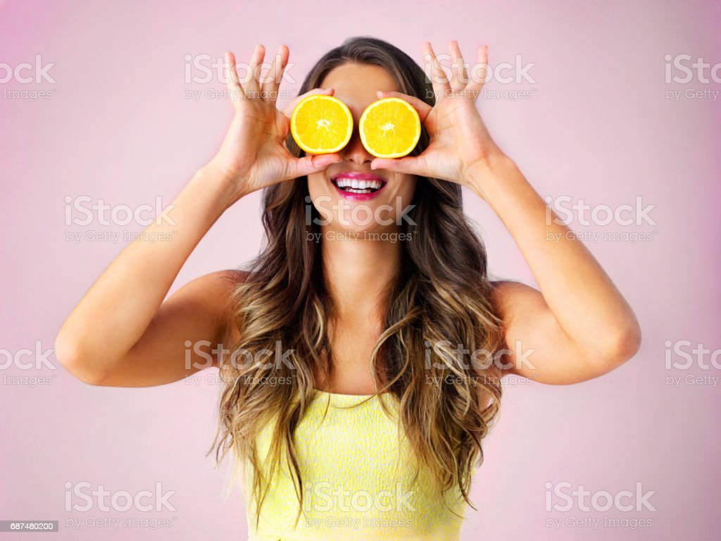 Look at the bright side! stock photo