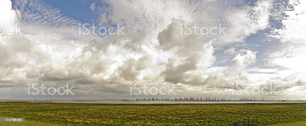 Look at the Container Terminal Bremerhaven stock photo