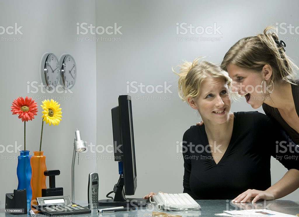 look at the monitor royalty-free stock photo