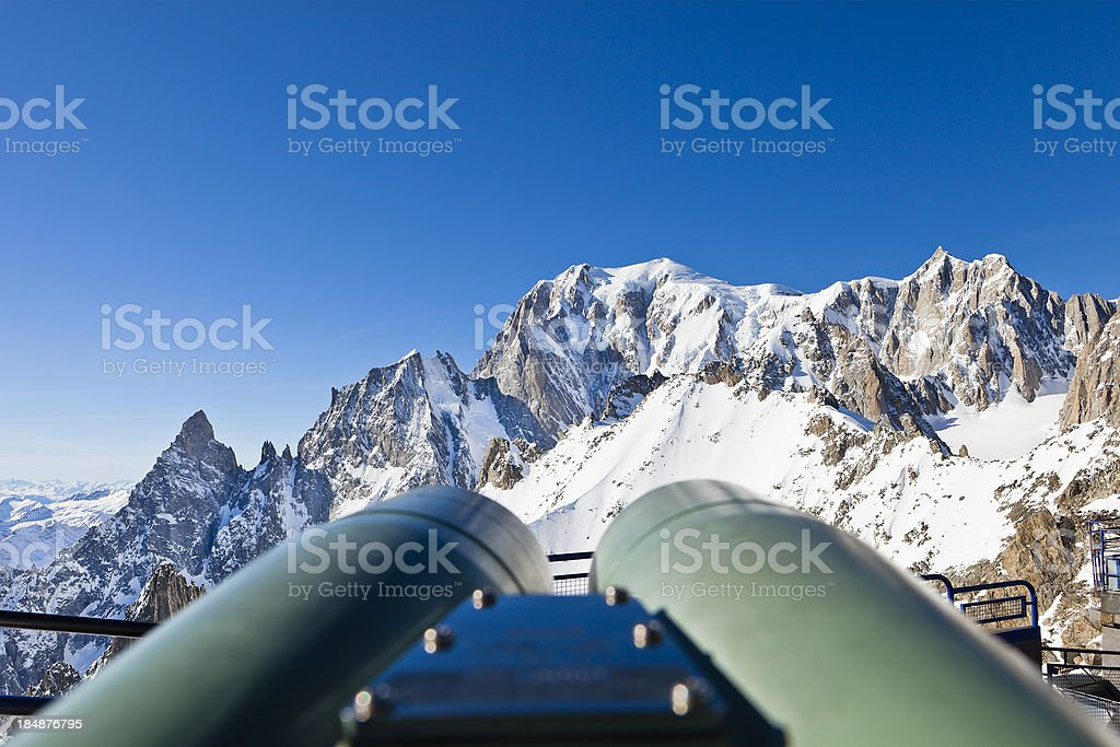Look at the Mont Blanc Massif stock photo