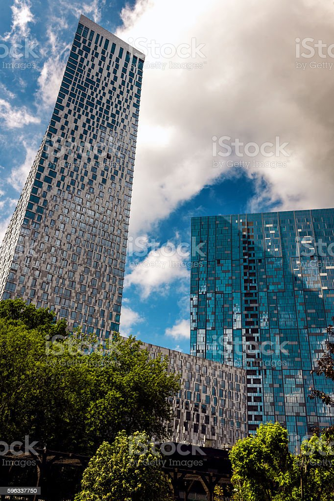 Look at the skyscraper Mosfilmovskoj,Moscow,Russia royalty-free stock photo