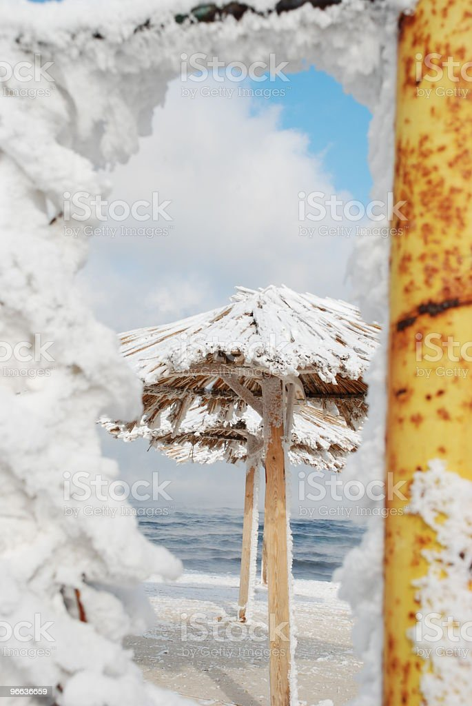 look at the winter beach royalty-free stock photo