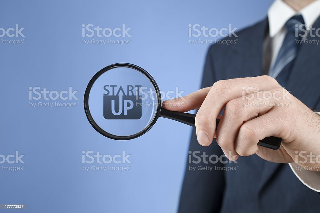 Look for startup royalty-free stock photo