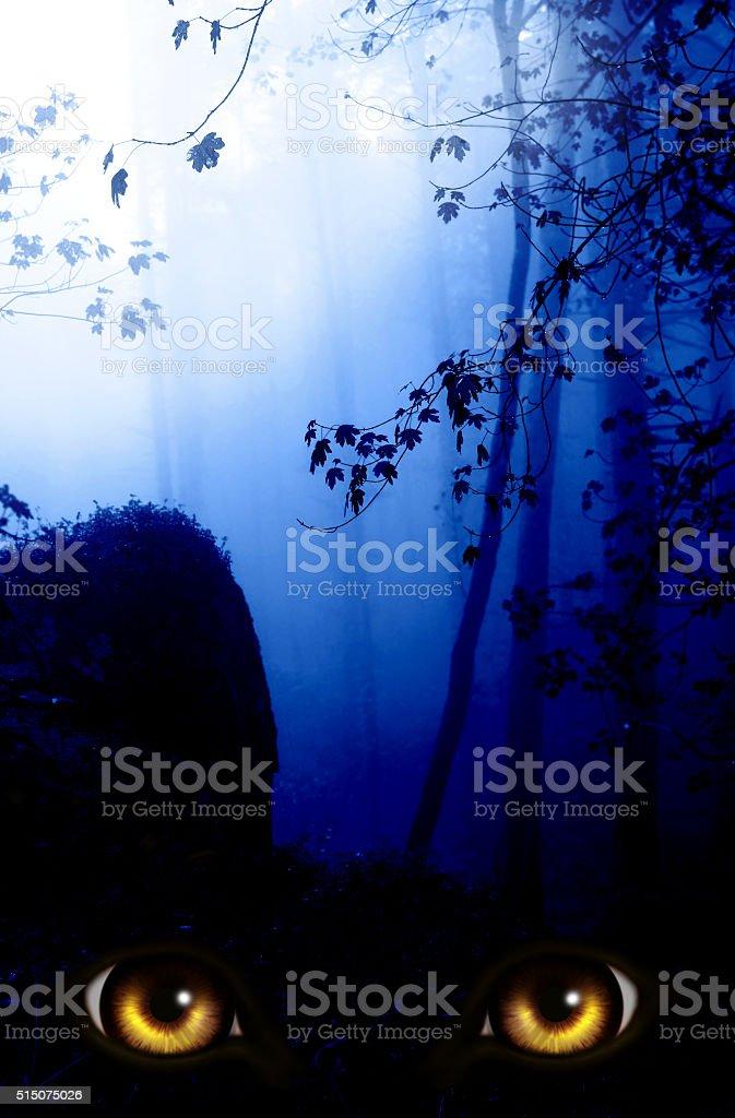 Visual da escuridão - foto de acervo