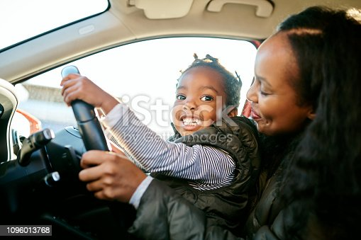 istock Look! I can drive! 1096013768