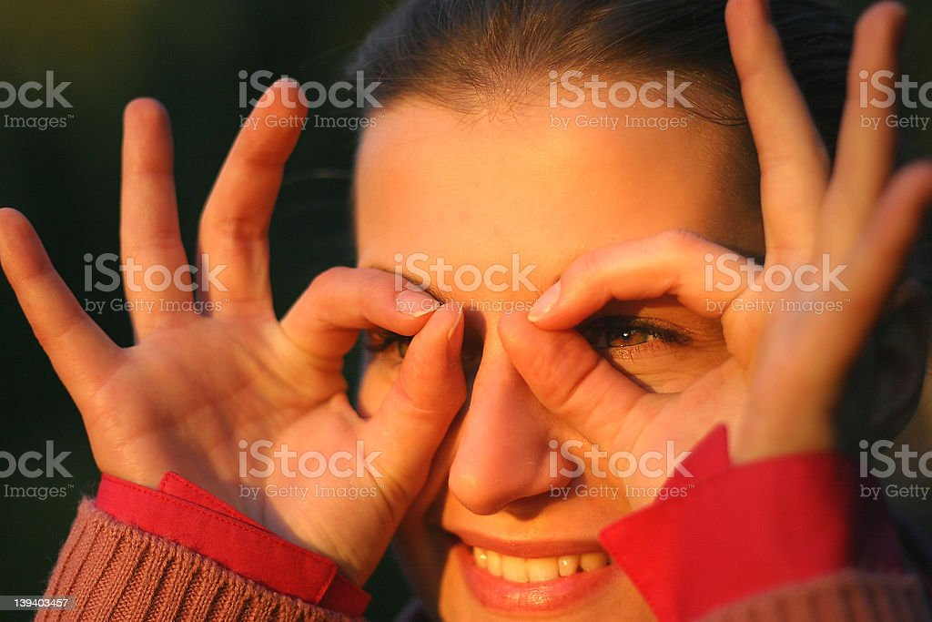 look into the future stock photo