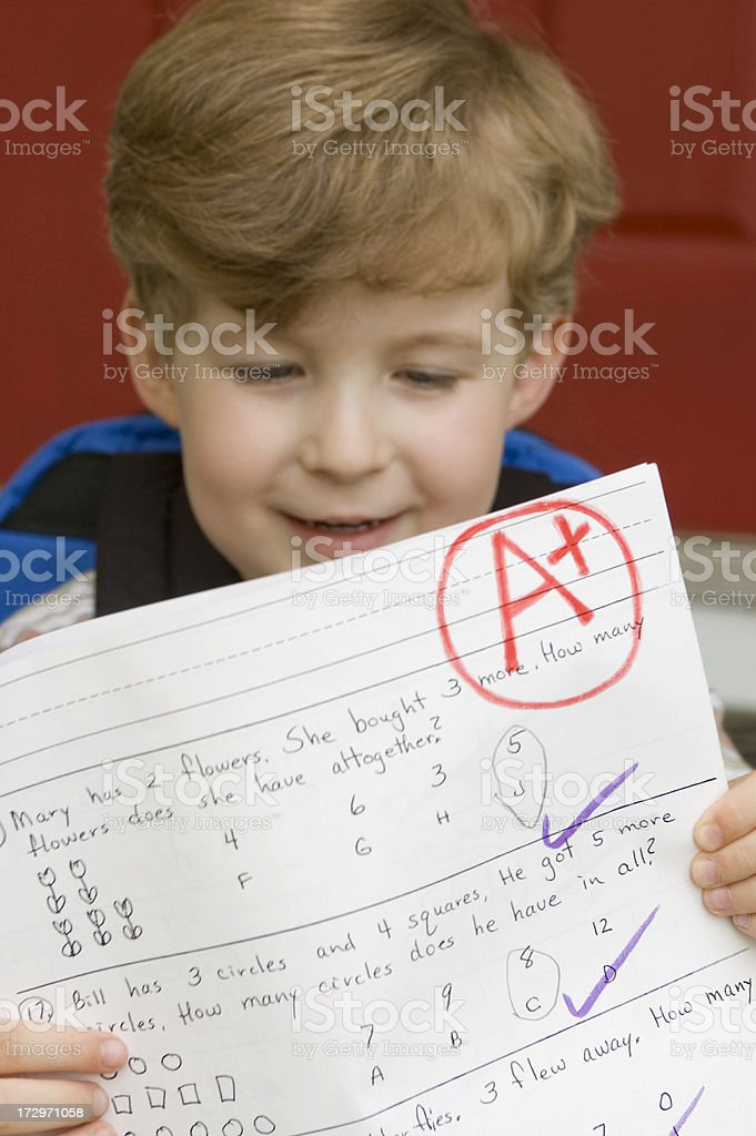 Look Mom...I did it! royalty-free stock photo