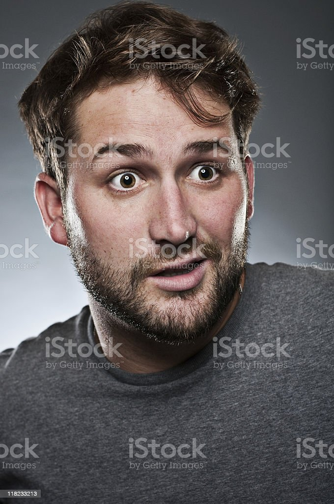 Look of surprise royalty-free stock photo