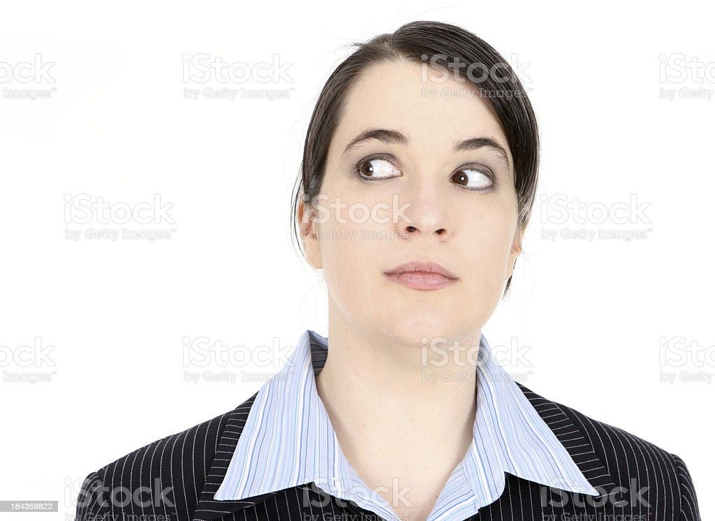 Look Over There - Business woman stock photo