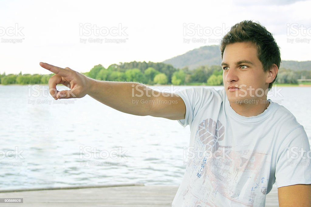 Look over there royalty-free stock photo