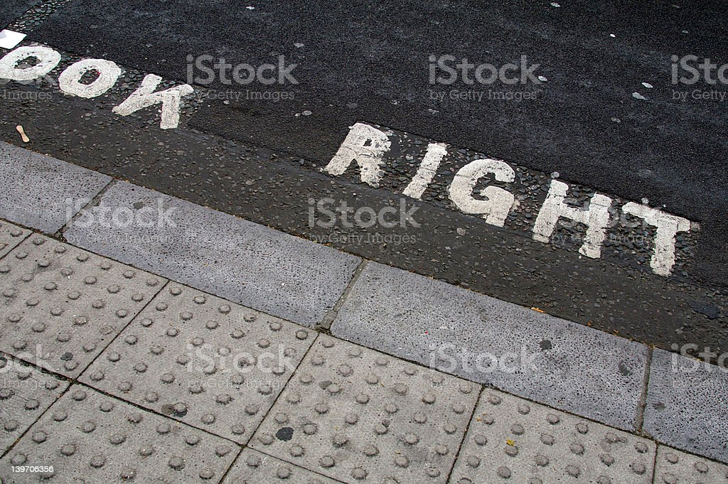 Look right stock photo