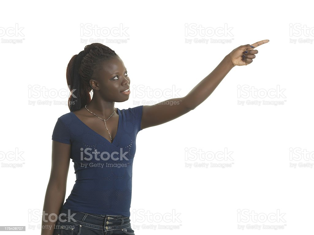 Look there! stock photo