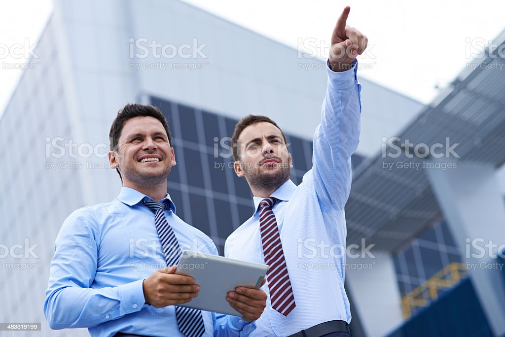 Look there! royalty-free stock photo