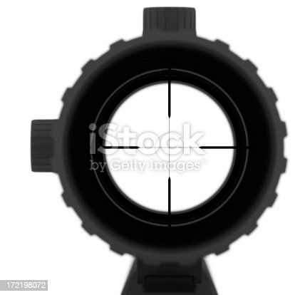 look trough a riflescope