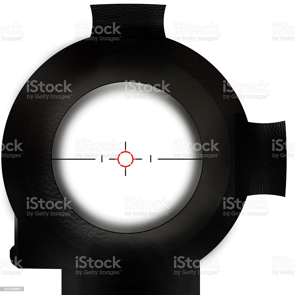look trough a riflescope stock photo