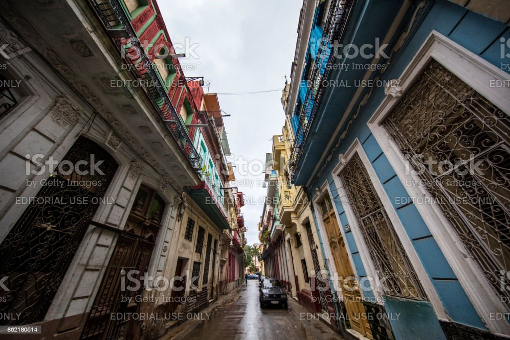 Look up from the Street of havana, cuba stock photo
